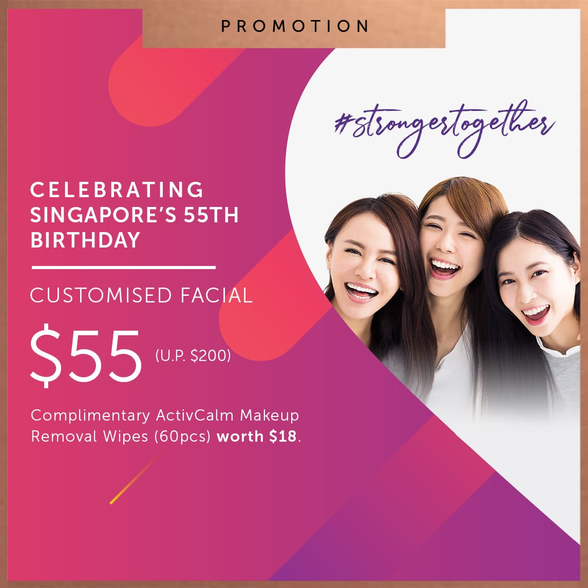 55 National Day Special Customised Facial Promotion Estetica